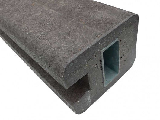 Reinforced End Post for View Protection Wall (L)2500x(W)160x(D)120