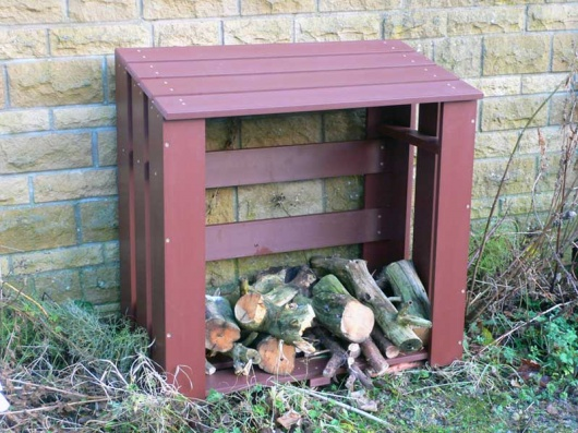 Recycled Plastic Wood/Log Store Unit