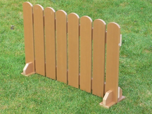 Picket Fence Panels - Portable | Recycled Plastic Wood