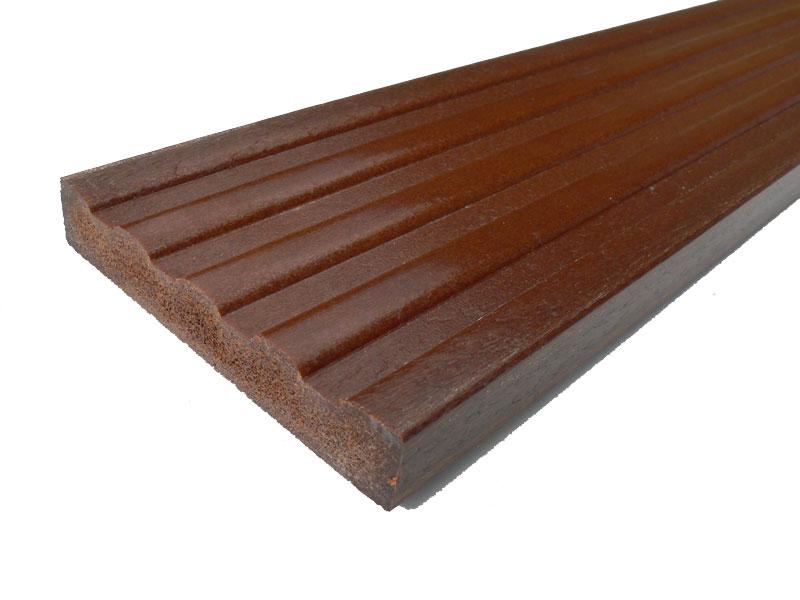 Plastic wood decking 120 x 20mm x 3m for Plastic wood decks