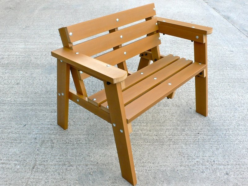 Recycled Plastic 2 Seater Garden Bench | Thames