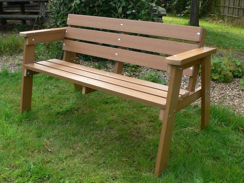 Recycled Plastic 3 Seater Garden Bench | Thames