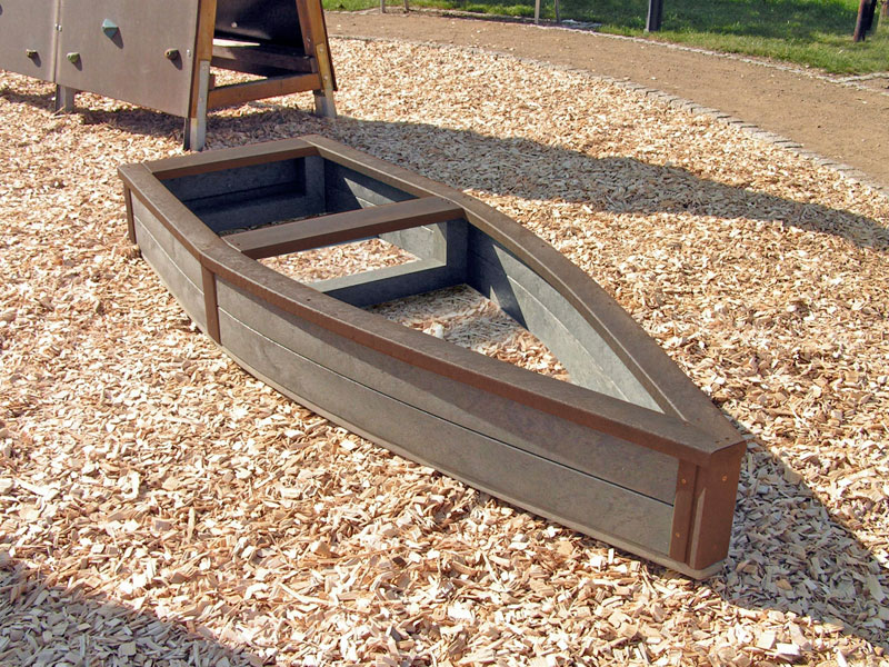 Children's Recycled Plastic Adventure Ship | Sand Box | Raised Bed