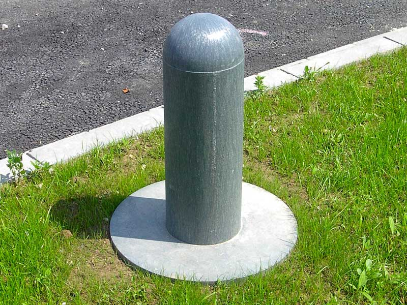 Recycled Mixed Plastic Bollard Domed Head 200mm dia