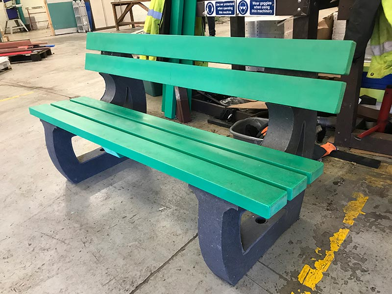 Recycled Plastic 3 Seater Bench | Colne Sports/Leisure