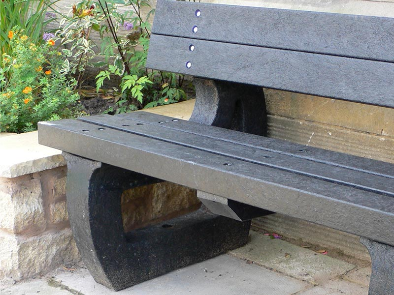 Recycled Mixed Plastic Bench Legs