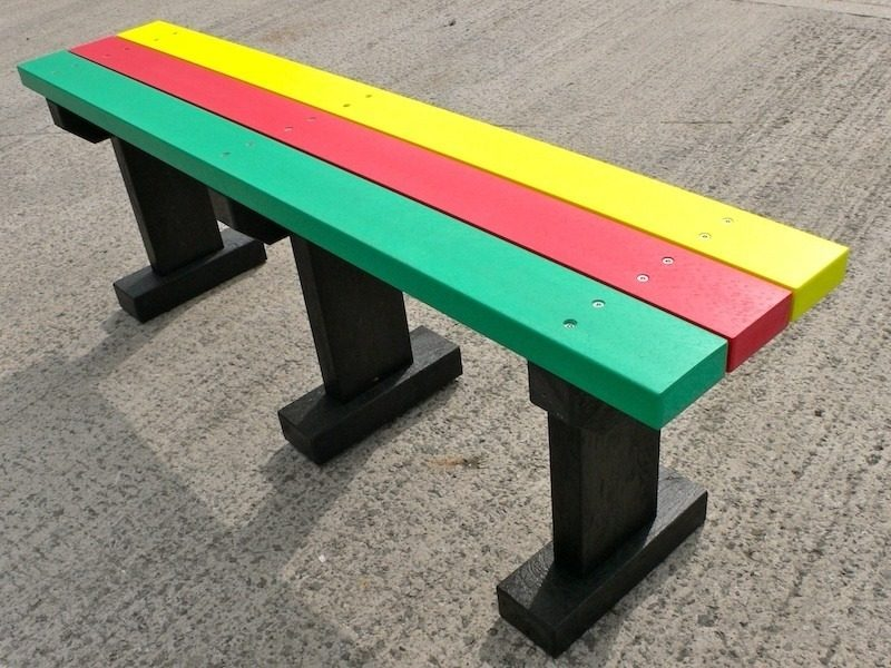 Recycled Plastic Bench | Multicoloured Tees Bench