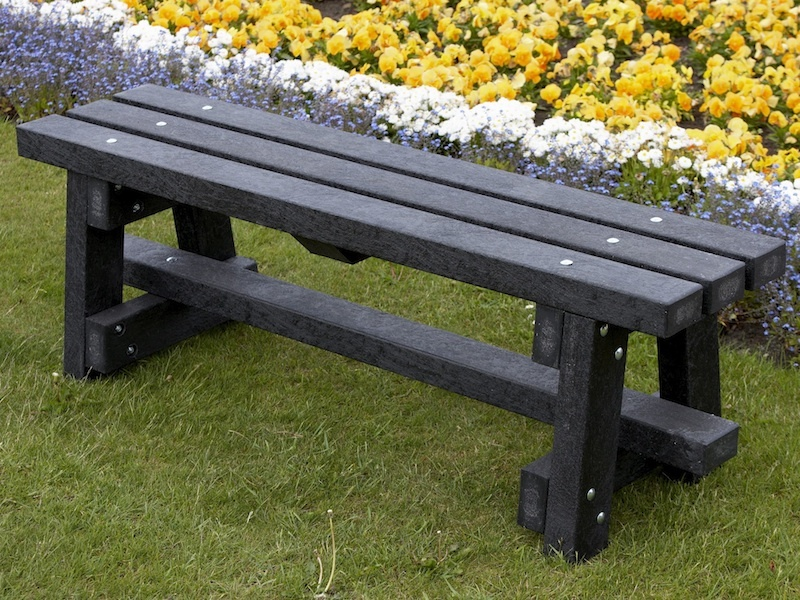 Recycled Plastic Garden Bench Ribble