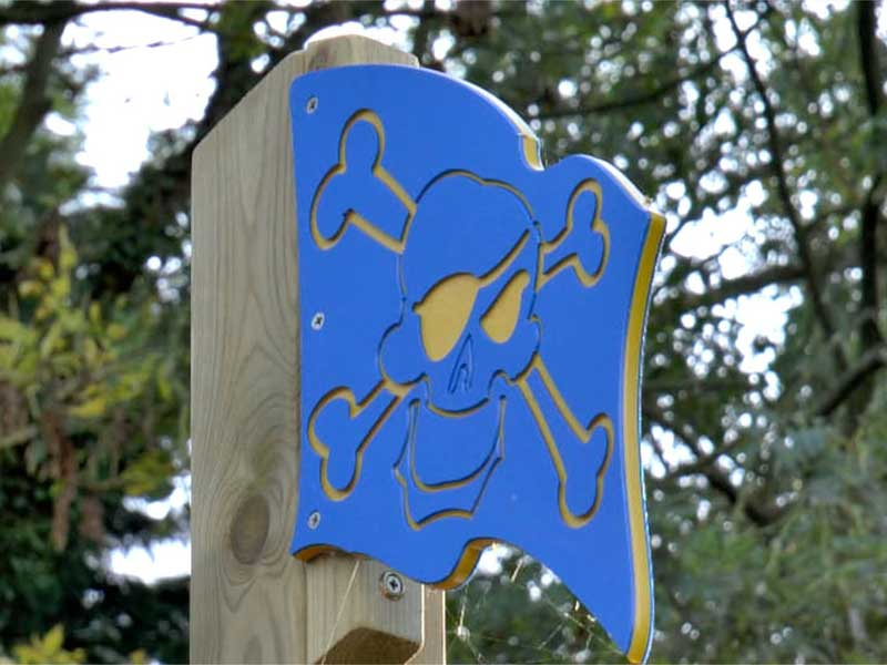 Pirate Flag Playground Accessory - HDPE