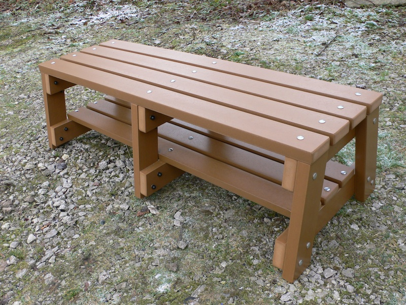 Recycled Plastic Outdoor Sports Bench