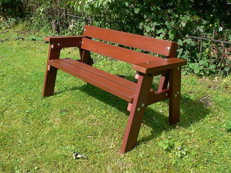 Recycled Plastic Children's Bench | Thames