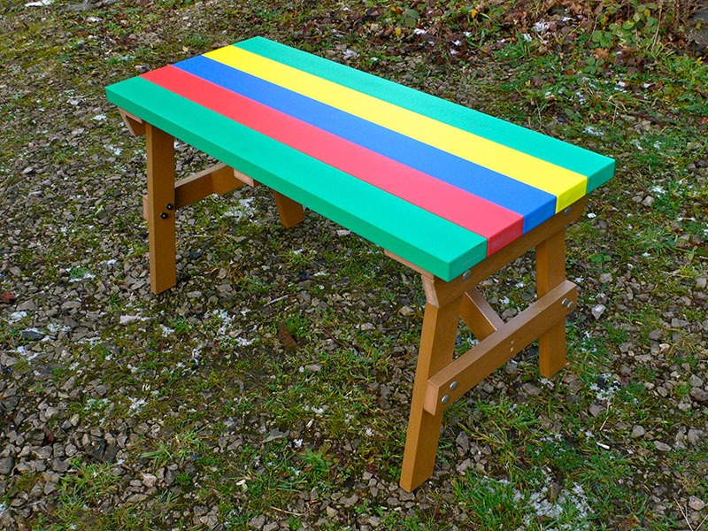 Thames Child's Multicoloured Outdoor Table - Recycled Plastic