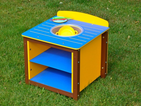Children's Multicoloured Recycled Plastic Play Sink Unit