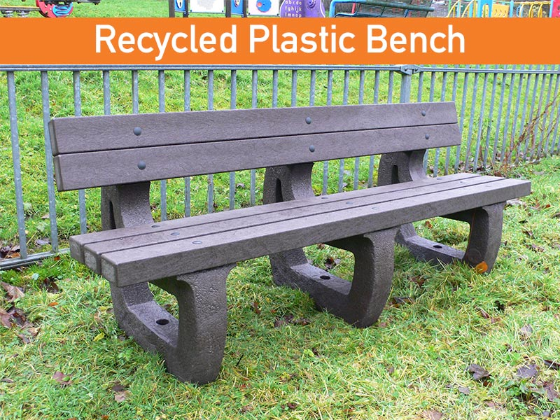 recycled plastic bench that will never rot by kedel