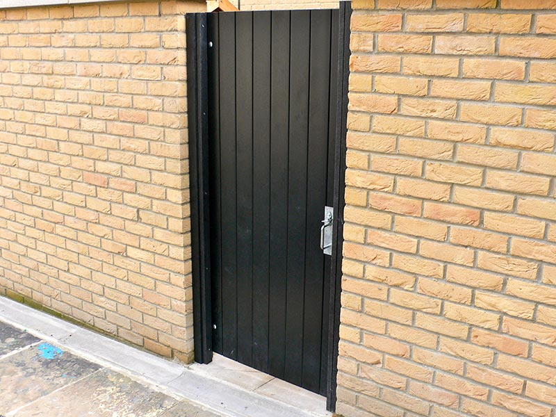 back gate made from recycled plastic tongue and groove from kedel